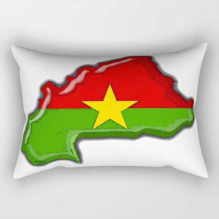 Burkina Faso with Burkinabe Flag Rectangular Pillow