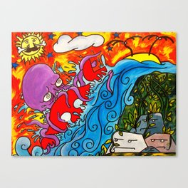 CRB vs The Greedy Octopus Canvas Print