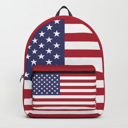 USA flag - Hi Def Authentic color & scale image Backpack