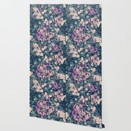 Floral Nights Space Dreams Wallpaper