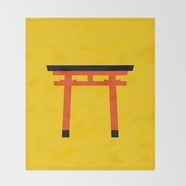 Torii (鳥居) (eastern portal) Throw Blanket