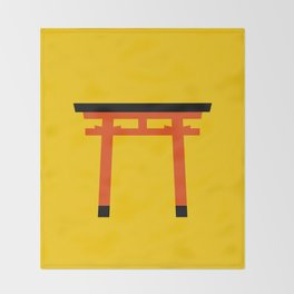 Torii (鳥居) (eastern portal) Throw Blanket