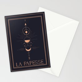 La Papesse or The High Priestess Tarot Stationery Cards