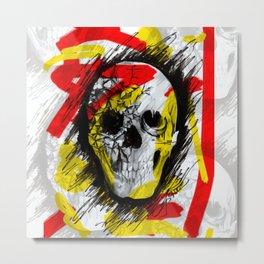 Punk Skull Metal Print