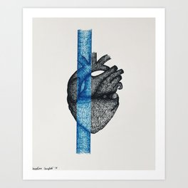 Color Blocked, Blue Art Print