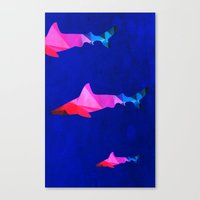 sharks Canvas Prints featuring Sharks by Cullen Rawlins