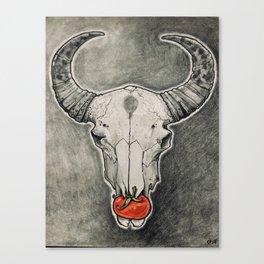 Tomato Skull Canvas Print