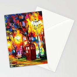 Tardis Dr Who Stationery Cards