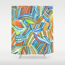 Bent and Straight Ladders Pattern Shower Curtain