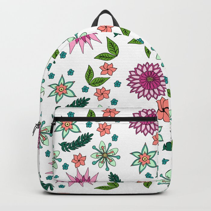 Floral Pattern Backpack