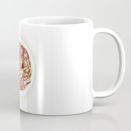 Watercolor Illustration of Chinese Cuisine - Stir-fried sausage with bacon | 腊肠炒腊肉 Coffee Mug