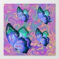 butterflies Canvas Prints featuring butterflies by Shea33