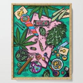 Cannabis Altar I Serving Tray