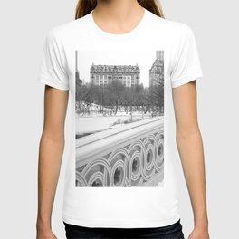 On Bow Bridge, B&W Photography T-shirt