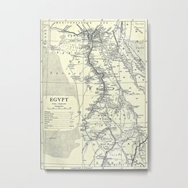 Vintage Map of Egypt (1911) Metal Print