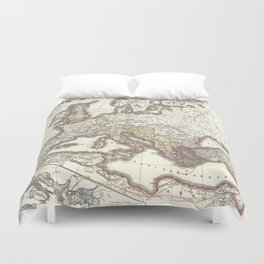 Vintage Map of The Roman Empire (1865) Duvet Cover