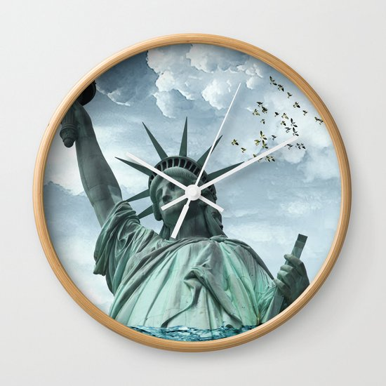the water line Wall Clock