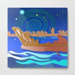 Maori Canoes : Waka Metal Print