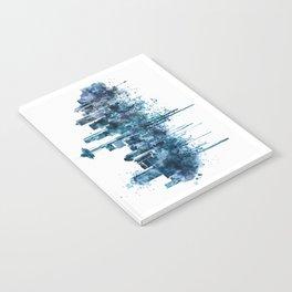 Seattle Skyline monochrome watercolor Notebook