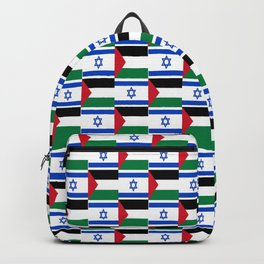 Mix of flag: Israel and Paslestine Backpack
