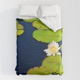 Dark Blue Pond by Teresa Thompson Comforters