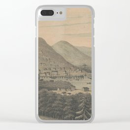 Vintage Pictorial Map of San Francisco CA (1850) Clear iPhone Case