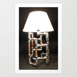 Articulated Desk Lamps - Copper and Chrome Collection - FredPereiraStudios_Page_12 Art Print