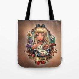 Follow The White Rabbit. Tote Bag