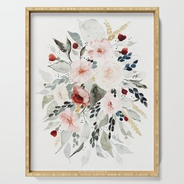 Loose Watercolor Bouquet Serving Tray