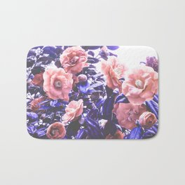 Wild Roses - Ultra Violet and Coral #decor #floral #buyart Bath Mat