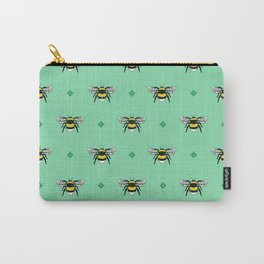 Bumblebees on Spearmint Carry-All Pouch