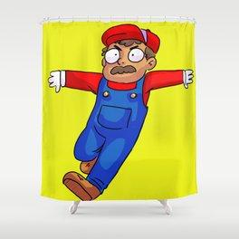 Supermario jumpman!! Shower Curtain