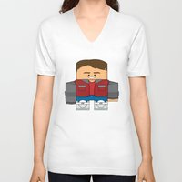 marty mcfly V-neck T-shirts featuring Back to The Future - Marty McFly (Future) by Choo Koon Designs