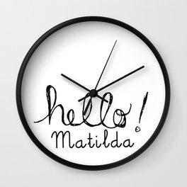 Hello Matilda Wall Clock