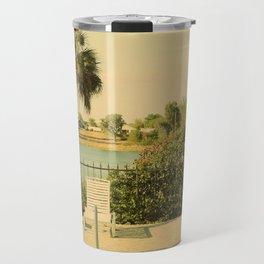Lolita's Poolside Vacation - Beach Art Travel Mug