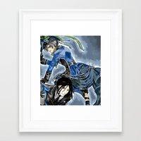 black butler Framed Art Prints featuring Black Butler by Abbie James
