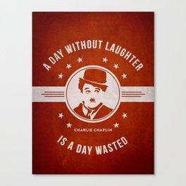 Charlie Chaplin - Red Canvas Print