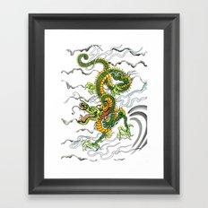 Japanese Dragon Tattoo Framed Art Print