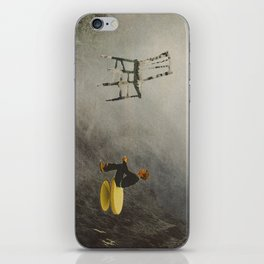 the perfect white between words iPhone Skin