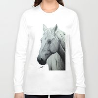 horse Long Sleeve T-shirts featuring Horse by Chris Knight