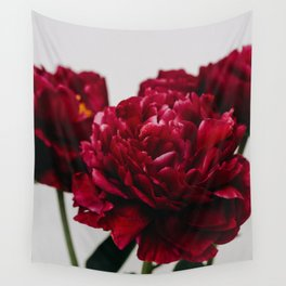 PEONIES RED CLUSTER Wall Tapestry