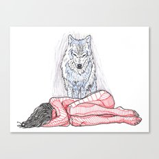 Wolf and I Canvas Print