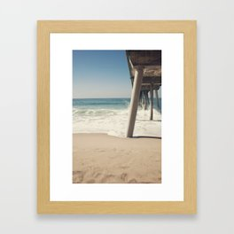 Hermosa Beach Pier Framed Art Print
