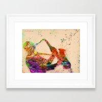 saxophone Framed Art Prints featuring music saxophone by mark ashkenazi