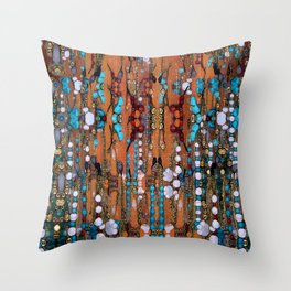 Abstract Indian Boho Throw Pillow