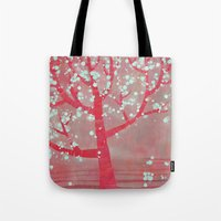 blossom Tote Bags featuring Blossom by Nic Squirrell