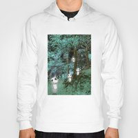 kodama Hoodies featuring Kodama in the woods by pkarnold + The Cult Print Shop