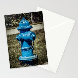 Firefightn' Blues Fire Hydrant Fire Plug Stationery Cards
