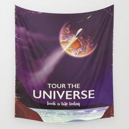 Tour the universe space travel poster Wall Tapestry