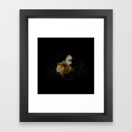 Pride - Lioness and Lion Couple Goals Framed Art Print
